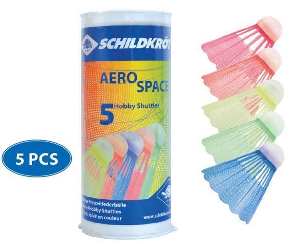 Schildkröt Badminton Ball Aero Space, 5er Dose, farbig gemischt