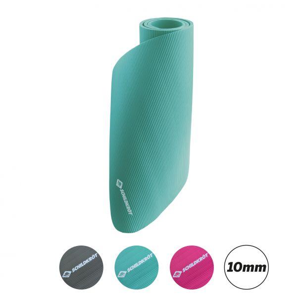 Fitnessmatte 10 mm, Mint, mit Tragegurt