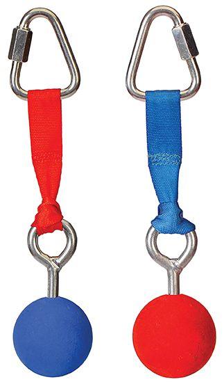 Slackers Ninja Bälle, 2 Stück im Set (rot / blau)