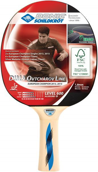 Donic-Schildkröt Tischtennisschläger Ovtcharov 600 FSC