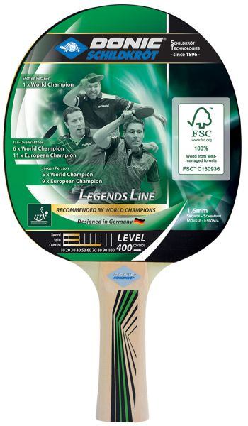 Tischtennisschläger Legends 400 FSC