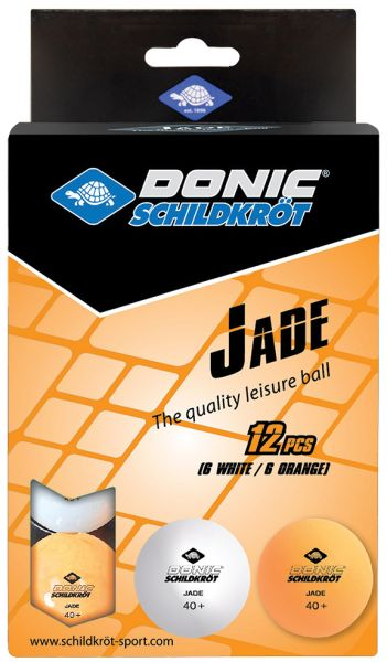 Tischtennisball Jade, Poly 40+, 6x Weiß / 6x Orange
