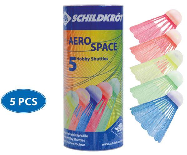 Badminton Ball Aero Space, 5er Dose, farbig gemischt