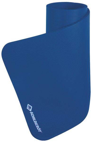 Fitnessmatte XL, 15 mm, Blau, mit Tragegurt