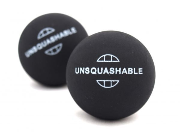 Unsquashable Squashbälle, 2er Blister, Rot / Medium