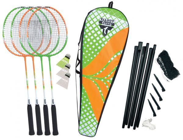 Badminton Set 4-Attacker Plus Set im Thermobag mit Netz