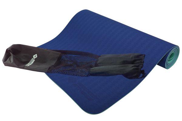 Schildkröt Fitness BICOLOR YOGA MATTE 4mm (navy-mint) im Carrybag