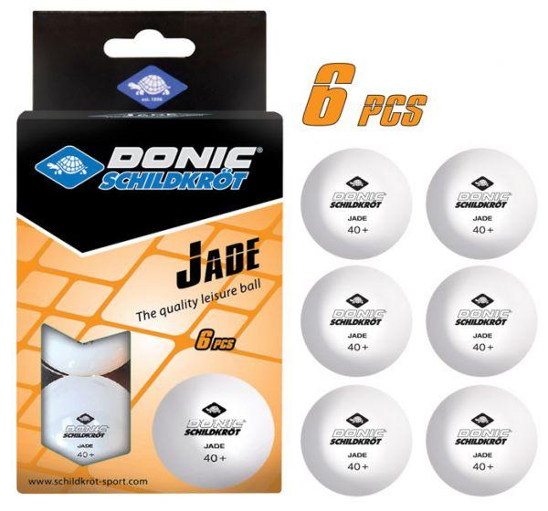 Tischtennisball Jade, Poly 40+ Qualität, 6 Stk.im Karton, Weiß