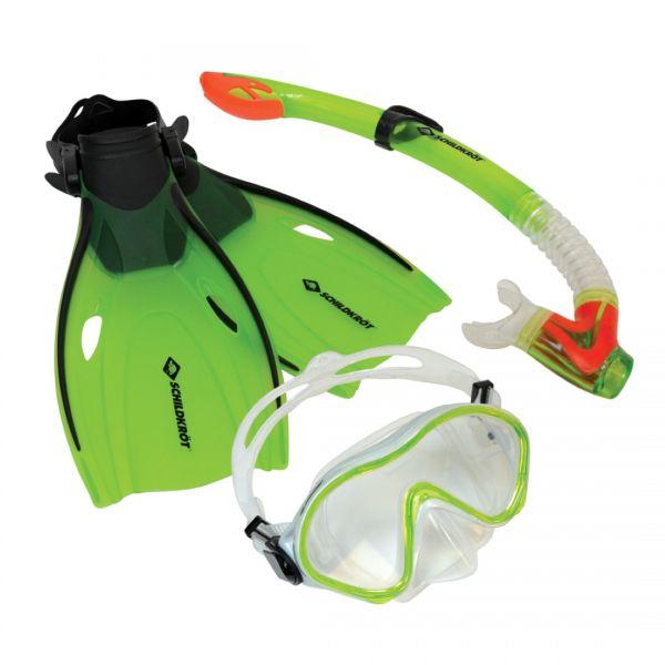 Schildkröt Kinder-Schnorchelset Bermuda, Brille, Schnorchel, Flossen in den Größen 27-32 oder 33-38