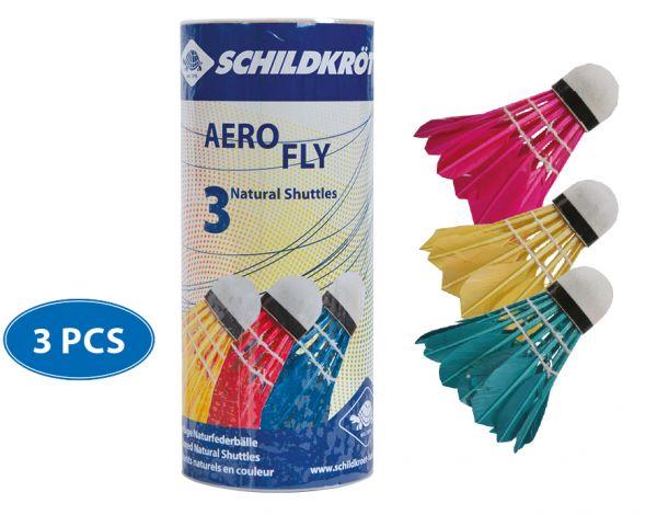 Badminton Ball Aero Fly, 3er Dose, farbig gemischt