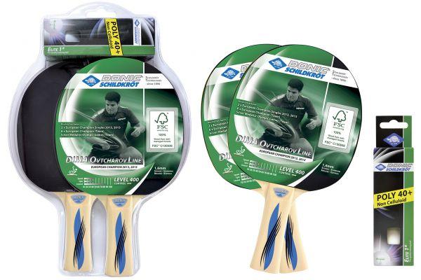 Donic-Schildkröt Tischtennis-Set Ovtcharov 400 FSC, im Blister