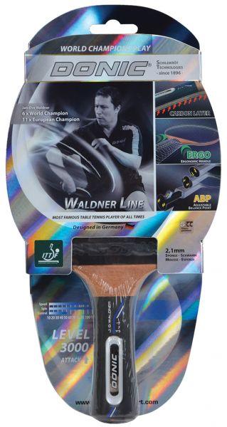 Tischtennisschläger Waldner 3000 Carbon mit ABP-Griff