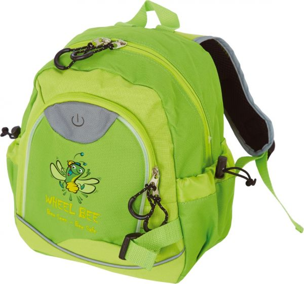 "Wheel Bee ""Kiddy Bee"" Junior Backpack green, LED-Light"