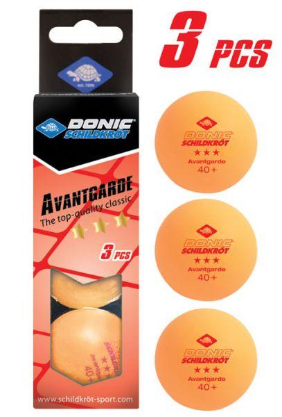 Tischtennisball 3-Stern Avantgarde, Poly 40+ Qualität, 3 Stk. im Karton, Orange