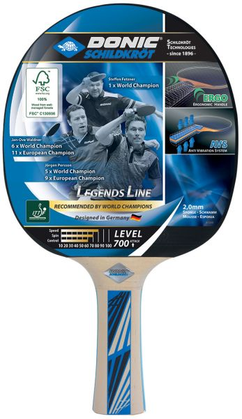 Donic-Schildkröt Tischtennisschläger Legends 700 FSC