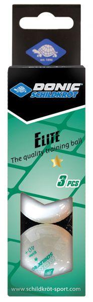 Tischtennisball 1-Stern Elite, Poly 40+ Qualität, 3 Stk. im Karton, weiß