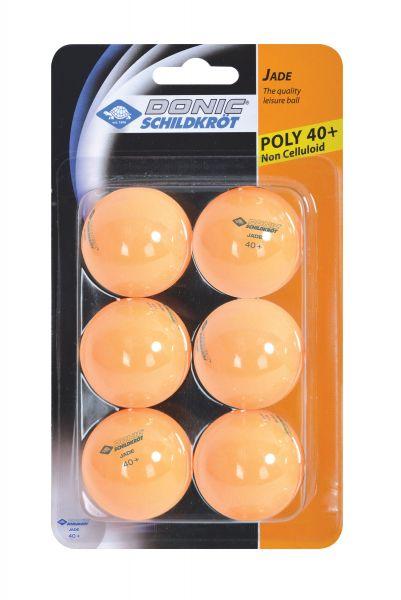 Donic-Schildkröt Tischtennisball Jade, Poly 40+ Qualität, 6 Stk. im Blister, Orange