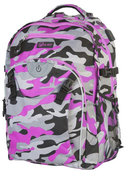 Wheel Bee LED-Backpack Generation Z - Camouflage Pink
