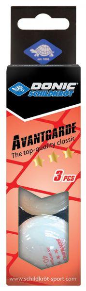 Tischtennisball 3-Stern Avantgarde, Poly 40+ Qualität, 3 Stk. im Karton, Weiß