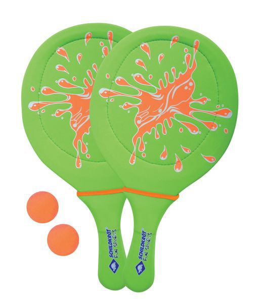 Neopren Beachball Set, grün / orange