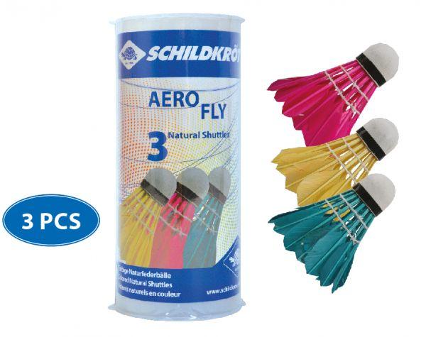 Schildkröt Badminton Ball Aero Fly, 3er Dose, farbig gemischt