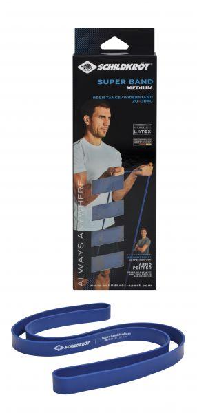 Super Band Medium, Premium Widerstandsbänder mit 20-30kg Widerstand, 32mm Breite, Blau