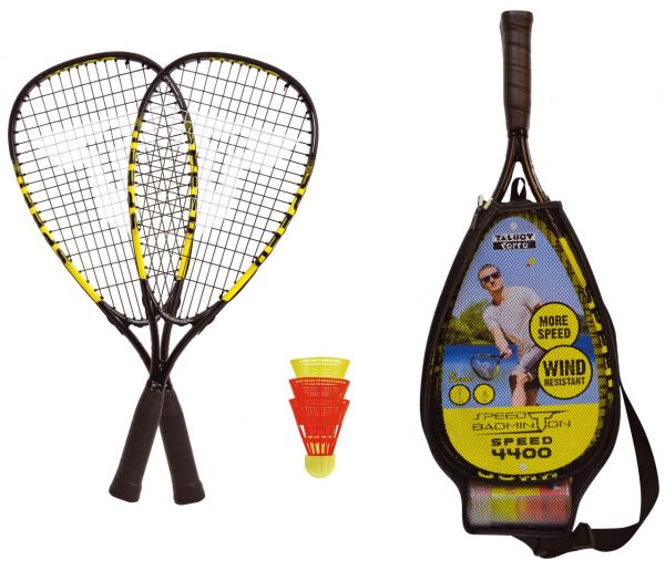 Talbot-Torro Speed-Badminton Set SPEED 4400, 2 Alu-Rackets 54,5cm, 3 Federbälle, im 3/4 Bag