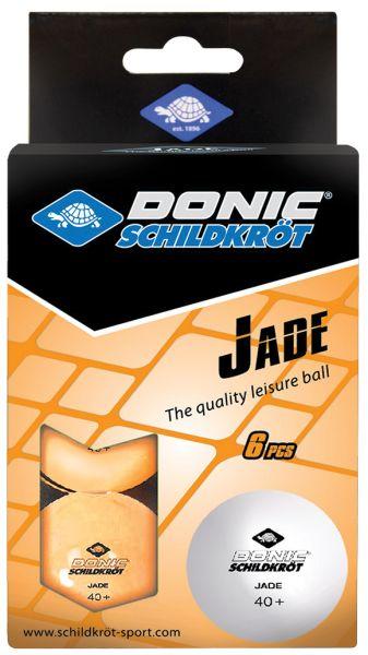 Donic-Schildkröt Tischtennisball Jade, Poly 40+ Qualität, 6 Stk. im Karton, Orange