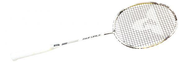 Badminton-Schläger ISOFORCE 1011.8 C4, white-black-silver