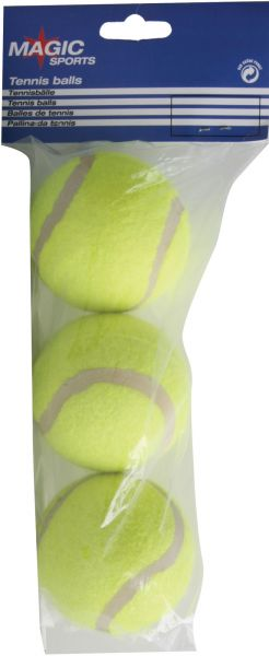 Magic-Sports Tennisball 3er Pack, drucklos, im Polybag