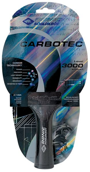 Tischtennisschläger CarboTec 3000, konkav
