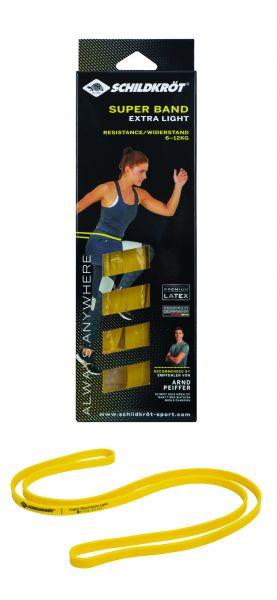 Super Band Extra Light, Premium Widerstandsbänder mit 6-12kg Widerstand, 13mm Breite, Gelb